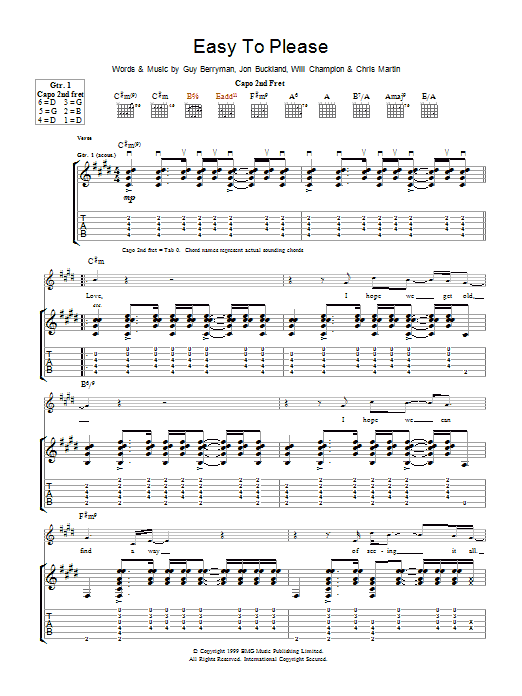 Easy To Please Sheet Music