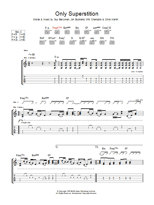 Only Superstition (Guitar Tab)