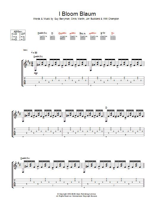 I Bloom Blaum (Guitar Tab)