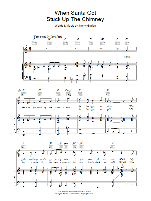 When Santa Got Stuck Up The Chimney (Piano, Vocal & Guitar)