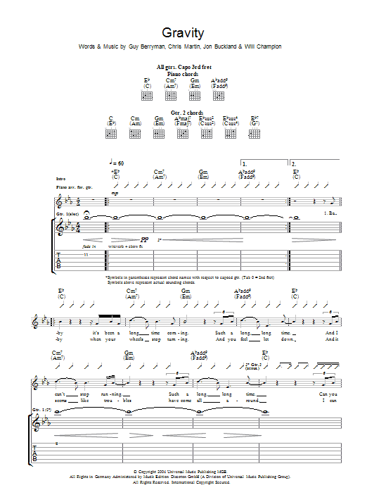 Gravity (Guitar Tab)