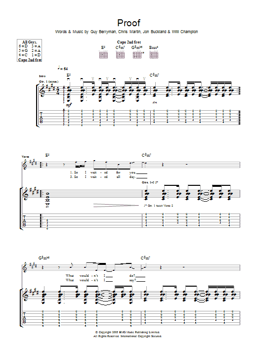 Proof (Guitar Tab)