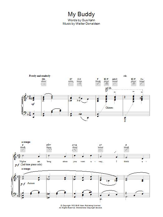 My Buddy (Piano, Vocal & Guitar)