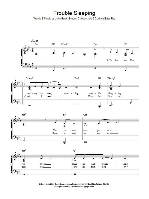 Trouble Sleeping Sheet Music