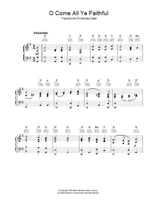 O Come, All Ye Faithful (Adeste Fideles) (Piano Solo)