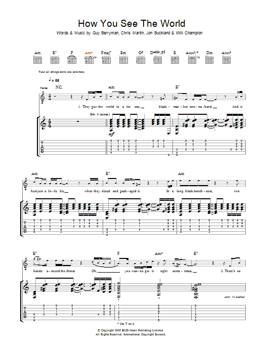 How You See The World (Guitar Tab)
