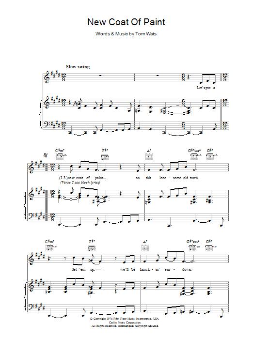 New Coat Of Paint (Piano, Vocal & Guitar)