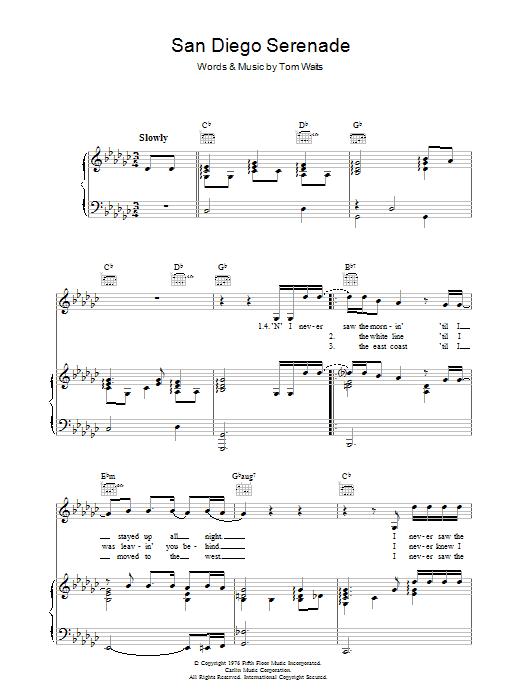 San Diego Serenade (Piano, Vocal & Guitar)