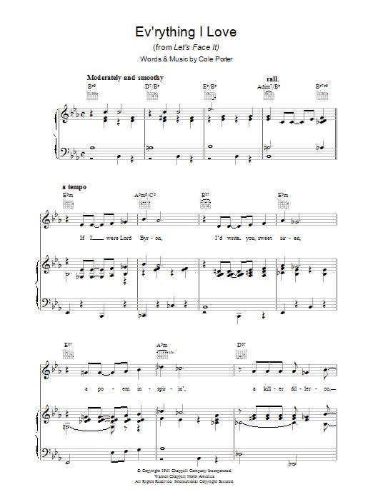 Ev'rything I Love (Piano, Vocal & Guitar)