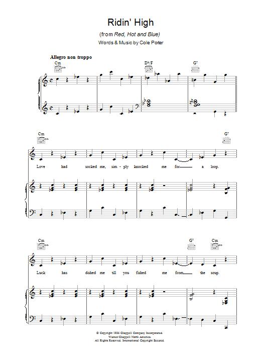 Ridin' High (Piano, Vocal & Guitar)