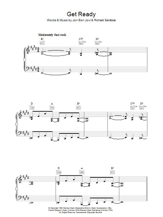 Get Ready (Piano, Vocal & Guitar)
