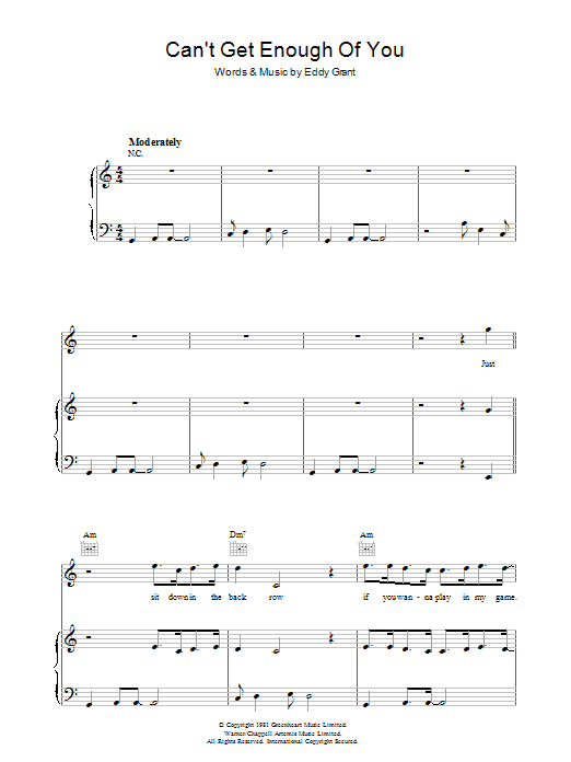Can't Get Enough Of You Sheet Music