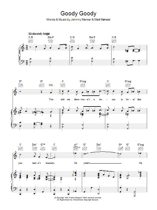 Goody Goody (Piano, Vocal & Guitar)