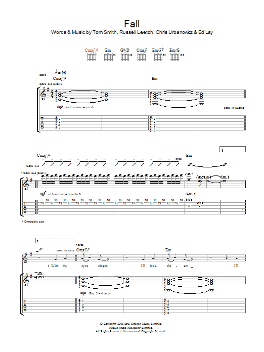 Fall (Guitar Tab)