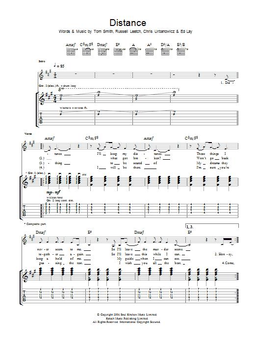 Distance (Guitar Tab)