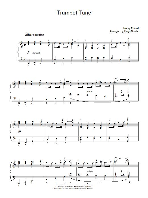 Trumpet Tune (Piano Solo)