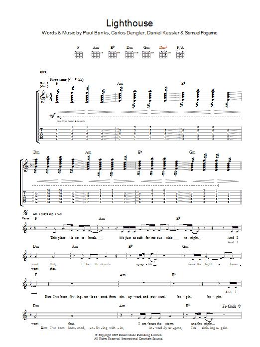 The Lighthouse (Guitar Tab)