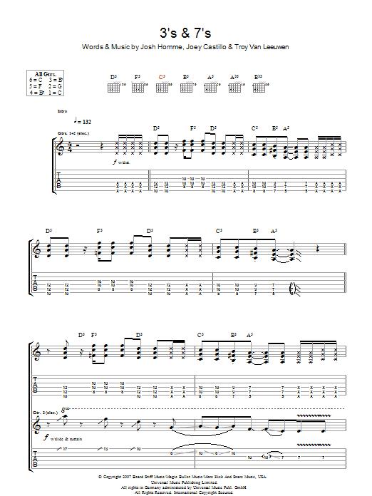 3's & 7's (Guitar Tab)
