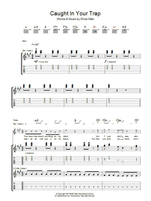 Caught In Your Trap Sheet Music