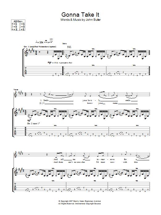 Gonna Take It (Guitar Tab)
