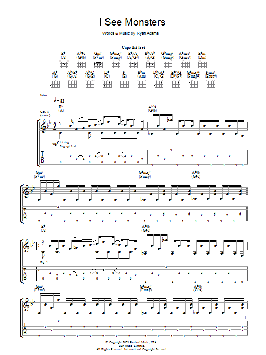 I See Monsters (Guitar Tab)