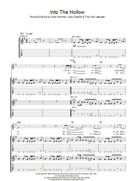 Into The Hollow Sheet Music
