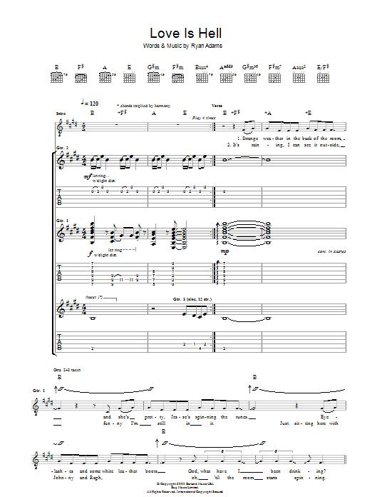Love Is Hell (Guitar Tab)