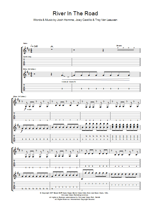 River In The Road Sheet Music