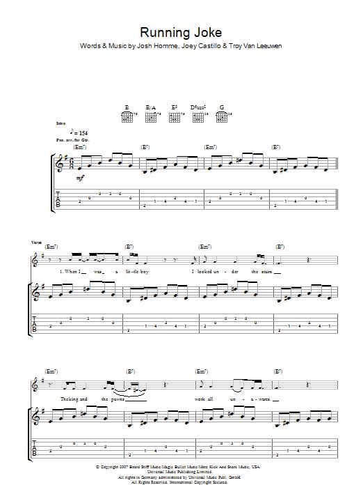 Running Joke (Guitar Tab)
