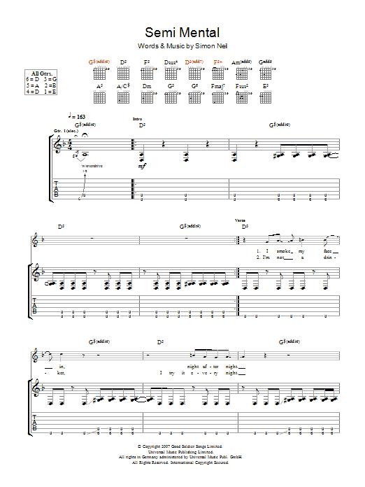Semi-Mental Sheet Music