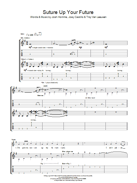Suture Up Your Future (Guitar Tab)