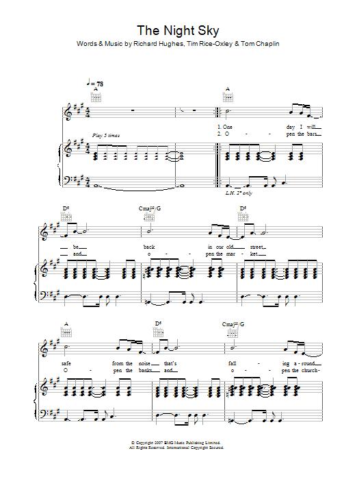 The Night Sky Sheet Music