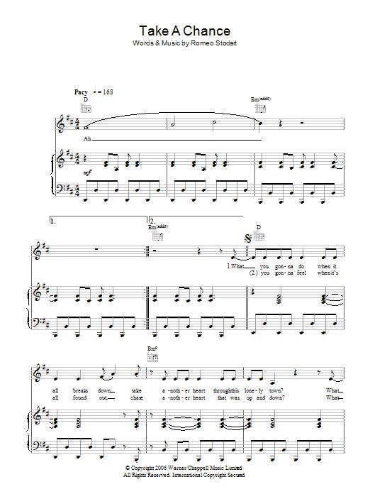 Take A Chance (Piano, Vocal & Guitar)
