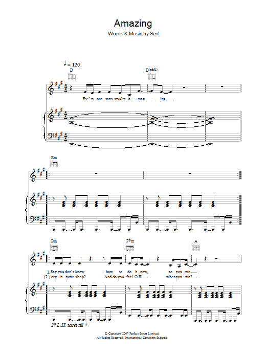 Amazing (Piano, Vocal & Guitar)