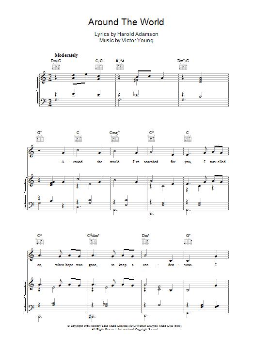 Around The World (Piano, Vocal & Guitar)
