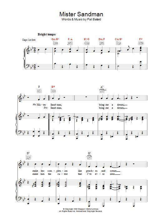 Mister Sandman (Piano, Vocal & Guitar)