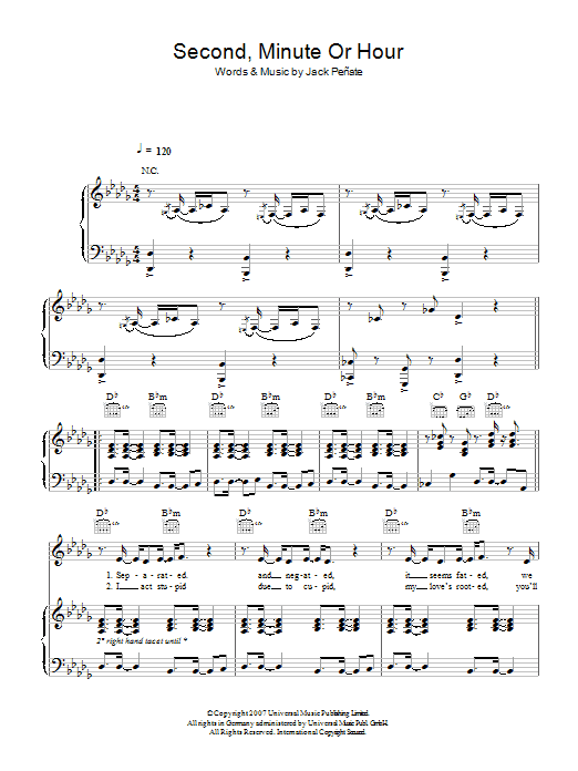 Second, Minute Or Hour Sheet Music