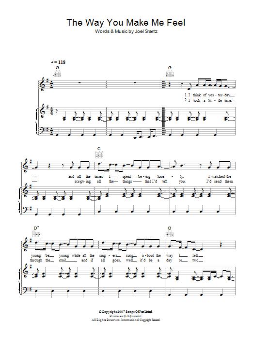 The Way You Make Me Feel (Piano, Vocal & Guitar)