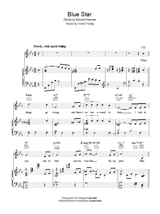 Blue Star (The Medic Theme) (Piano, Vocal & Guitar)