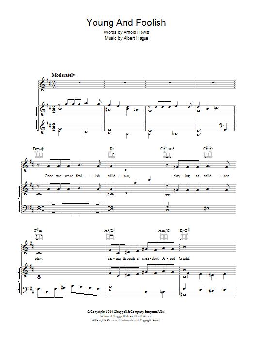 Young And Foolish (Piano, Vocal & Guitar)