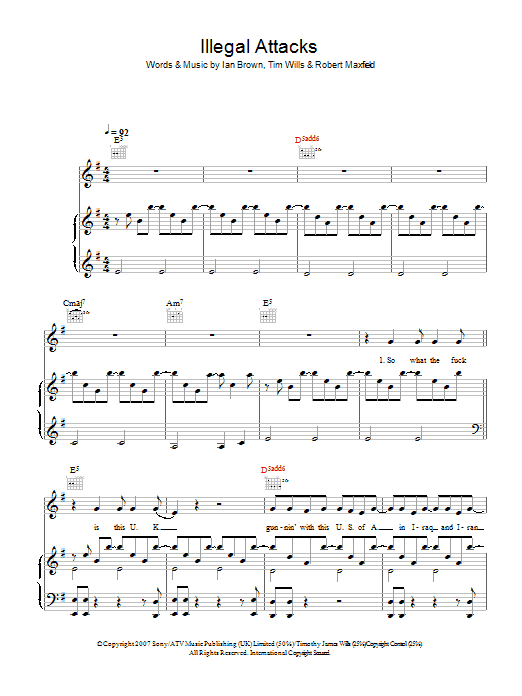 Illegal Attacks Sheet Music