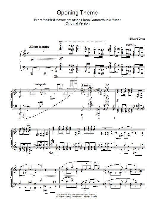 Piano Concerto In A Minor (Piano Solo)
