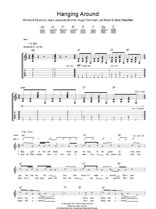 Hanging Around (Guitar Tab)