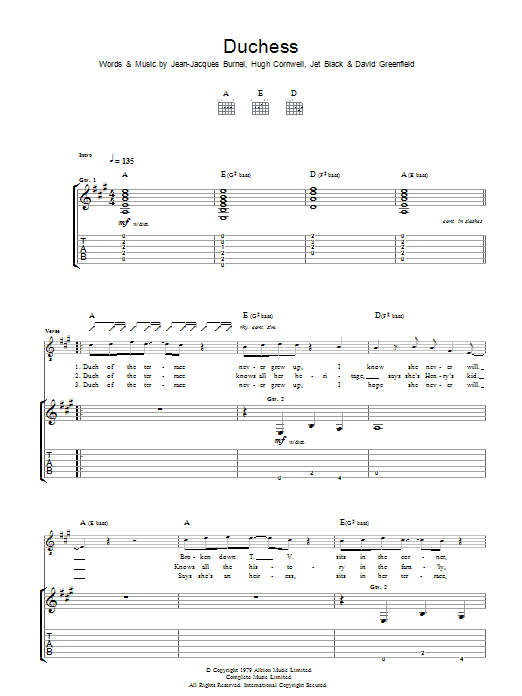 Duchess (Guitar Tab)