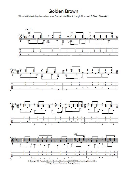 Golden Brown (Guitar Tab)