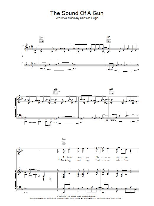 The Sound Of A Gun Sheet Music