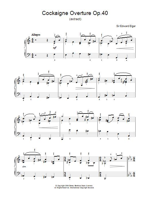 Cockaigne Overture Op.40 Sheet Music
