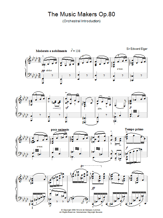 The Music Makers Op. 80 (Piano Solo)