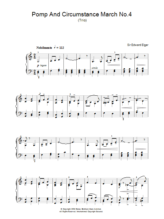 Pomp And Circumstance (Piano Solo)