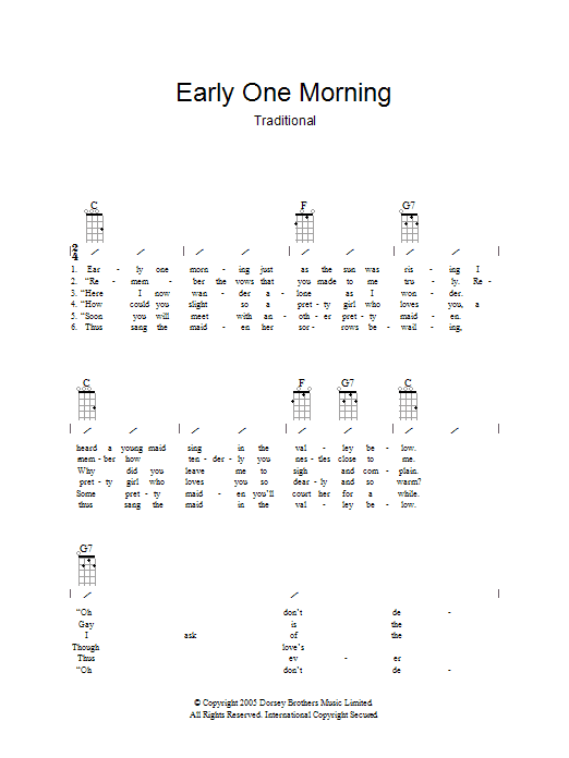 New morning lyrics and chords